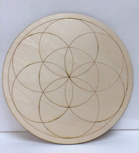 Details about Large Wooden Crystal Grid Plate Seed of Life Sacred Geometry  Healing Spirit