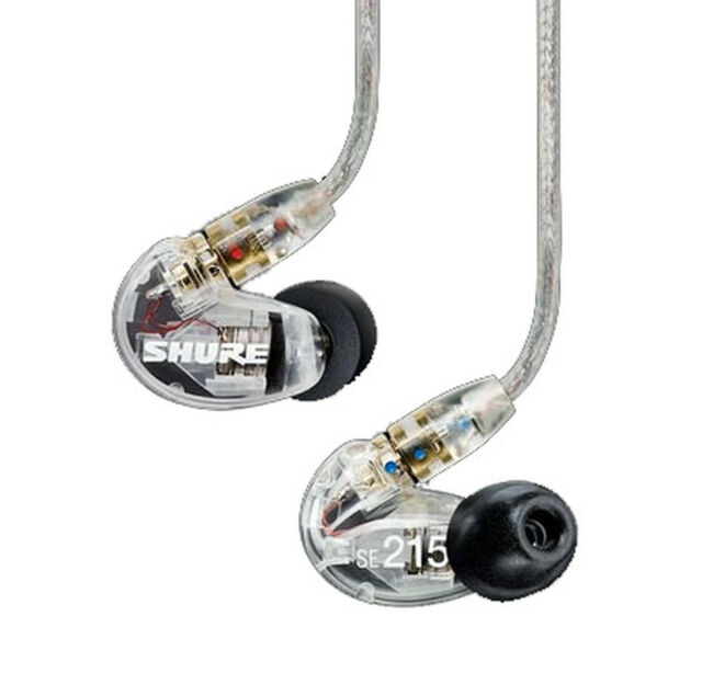 Shure SE215 In-Ear Sound Isolating Earphones CLEAR