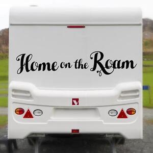 HOME-ON-THE-ROAM-LARGE-STICKER-Funny-Caravan-Bailey-Swift-Novelty-Vinyl-Decal