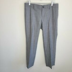 Banana Republic The Logan Fit Wool Trouser Fit Size 10 Stretch Gray Dress Pants