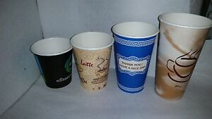 10 oz Paper cups with lids - 50 PACK