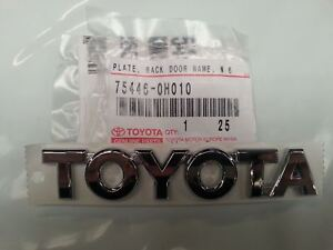 Brand New Toyota Badge For Toyota Aygo Rear Boot Badge 122mm X 82mm