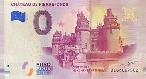 BILLET-0-EURO-CHATEAU-DE-PIERREFONDS-FRANCE-2019-NUMERO-DIVERS