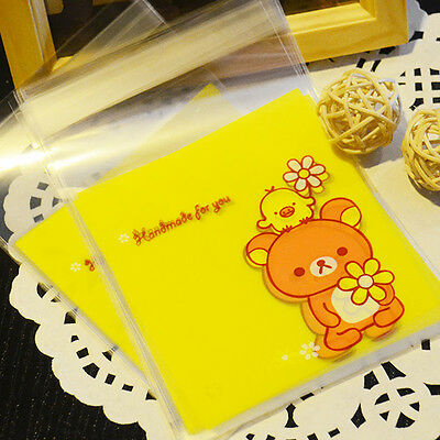 Rilakkuma Bright Yellow Party Treats Favors DIY Cookies Self-Adhesive OPP Bags