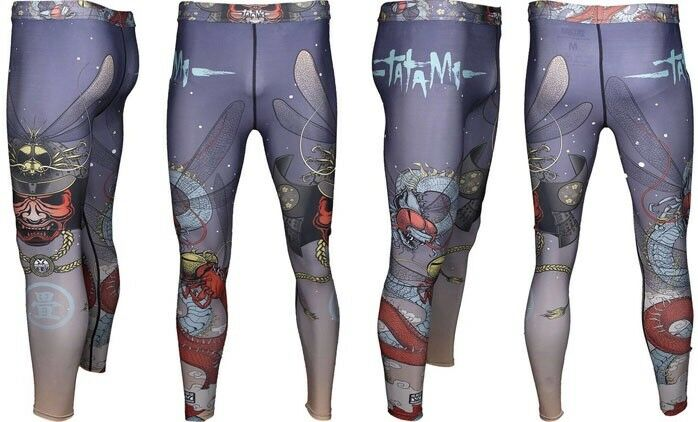 New Tatami Meerkatsu Dragon Fly V2 Men's Size Medium Spats MMA BJJ Jiu Jitsu