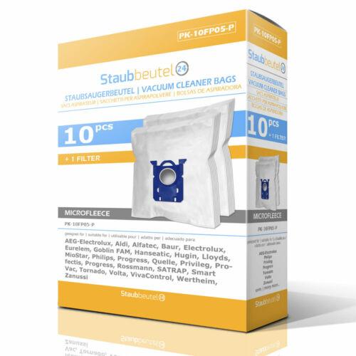 10 Premium Staubsaugerbeutel Für AEG S-Bag Equipt AEQ 30