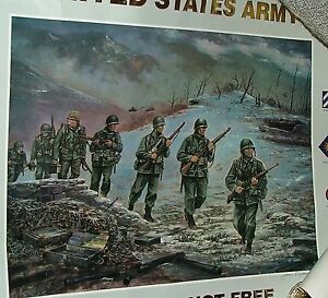 POSTER-1994-Freedom-is-Not-Free-US-ARMY-Korea-1950-53-Signed-Jim-Ryan