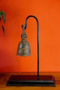Bronze Temple Bell With Tripod Home Accessories Decoration Asian Art Buddha Lovely Luster Other Antique Decorative Arts