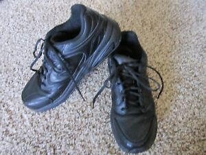 New-Balance-927-Black-Leather-Walking-Shoes-Sneakers-women-9-B