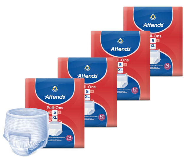 Attends Pull-Ons 5 (Plus) XL - 4x14 Stück - Inkontinenz-Pants für Erwachsene