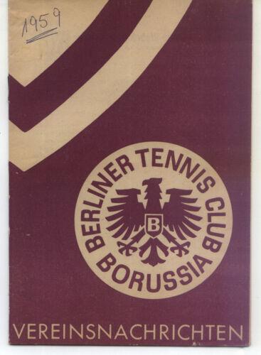 Dezember 1959 Vereinsnachrichten Tennis Borussia Berlin