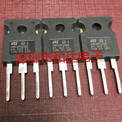1PCS STGW45HF60WD GW45HF60WD  IGBT 600V 70A 250W TO247