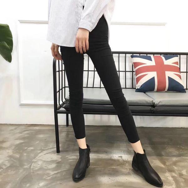 botas bajo Zapatos botas Militares 5 cm Negro Elegantes Piel Sintético 9647