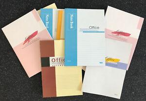 10x-Notizheft-Notizblock-Notizbuch-Tagebuch-Schreibblock-liniert-bunt-60-Blatt