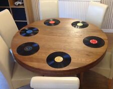 "Set of 6 Retro / Vintage 12"" Vinyl Record Placemats / Place Mats - Music Wedding"