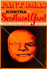 FANTOMAS CONTRE SCOTLAND YARD Czech A3 movie poster LOUIS DE FUNES JEAN MARAIS