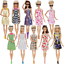 thumbnail 2 - Clothes And Accessories For Barbie Doll 32 Pcs Party Dress Outfit Glasses Shoes