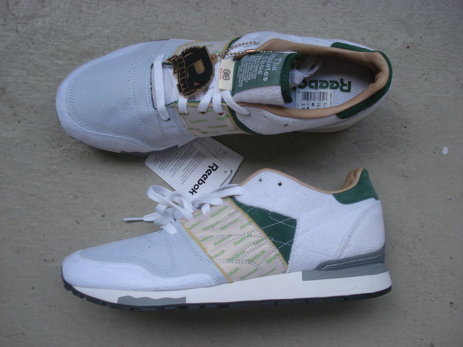 Garbstore X Reebok CL 6000 45 White Green Chalk