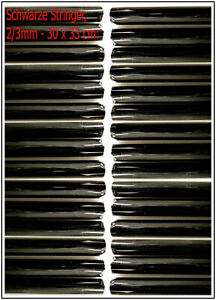 Schwarz-Transparent-2-3mm-10-Meter-TOP-Angebot-Effetre-Glasstaebe-T064