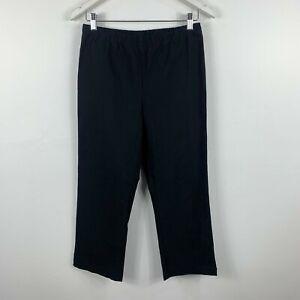 Blue-Illusion-Womens-Pants-Size-Medium-Black-Elastic-Waist