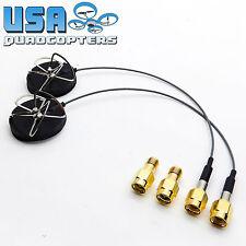 2pcs The Node™ 5.8GHz FPV Antenna Circular Polarized RHCP RP-SMA +SMA Adapter