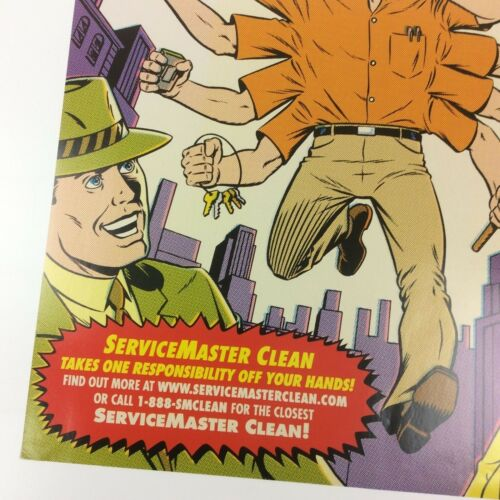 """/""""Incredible Tales/"""" Servicemaster Advertising Promo Comic Book Cover Art Poster"""