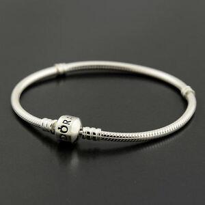 Authentic-Genuine-Pandora-Silver-Clasp-Bracelet-21cm-590702HV-21