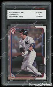 🌟2015 Aaron Judge Bowman Draft Rookie 1st Graded 10 New York Yankees Card #150