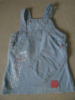 *¨¨* Mädchenrock/kleiderrock - Gr.68 Jeansblau, Vorn Tasche U. Aplikation *¨¨*
