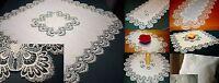 klassische Tischdecke Creme SPITZE Mitteldecke Tischläufer rund oval Größenwahl