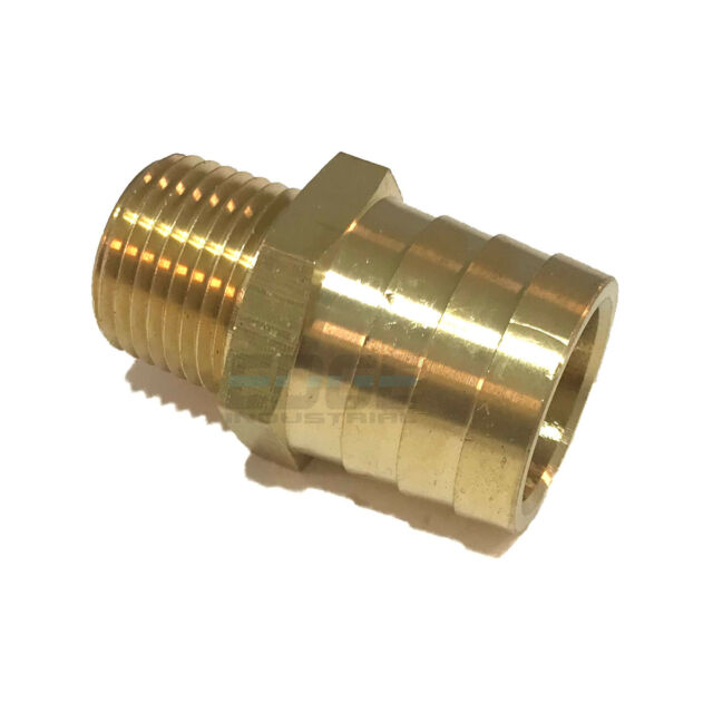 """5//8/"""" Hose Barb Bead x 1//2 Male NPT Brass Adapter Threaded Fitting Fuel Water Air"""