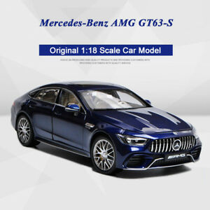 New-Original-1-18-Diecast-Car-Model-2018-Mercedes-Benz-AMG-GT63S-GT63-Blue-Color