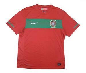 Portogallo 2010-11 Authentic Home Shirt (eccellente) M SOCCER JERSEY