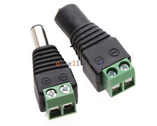 10Pairs Male Female 2.1x5.5mm DC Power Plug Jack Adapter Connector for CCTV