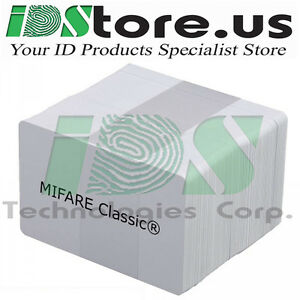 Details about 200 MIFARE Classic® 1k Blank White PVC Cards, CR80, 30  Mil,GQ, Credit Card size