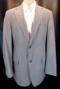 1666dc6fe HUGO BOSS Gray Stripe PASOLINI MOVIE US 2-Btn 2-Vent Flat-Front Suit ...