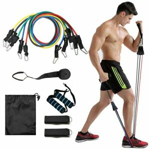 Resistance-Bands-Set-Pull-Rope-Gym-Home-Fitness-Workout-Crossfit-Yoga-Tube-11-PC