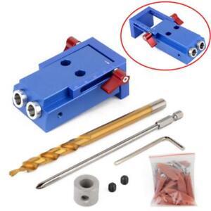 Mini-Tasche-Hole-Jig-Kit-Kreg-w-Step-Drilling-Bit-Woodwork-Joint-Tool-Set