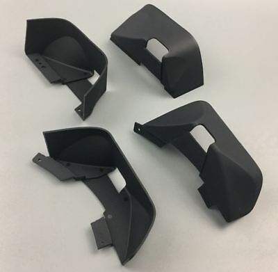 Front Rear Chassis Plastic Mug Guard Fender for 1//10 RC Crawler SCX10 II Axial