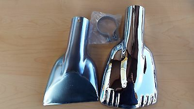 Chevy Bowtie Stainless Logo Exhaust Deflector Tips 2pc