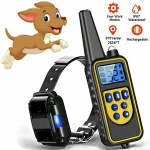 Dog-Shock-Collar-With-Remote-Electric-For-Large-Small-Pet-Training-875-Yards-pw