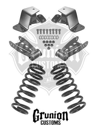 4 Drop Kit 1988 1998 Hd Coils Shackles Hangers