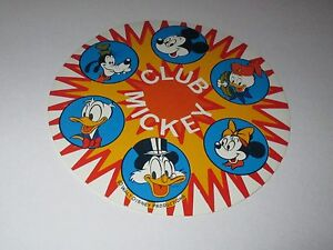 Autocollant-Disney-Club-Mickey-Walt-Disney-productions-diametre-10-cm