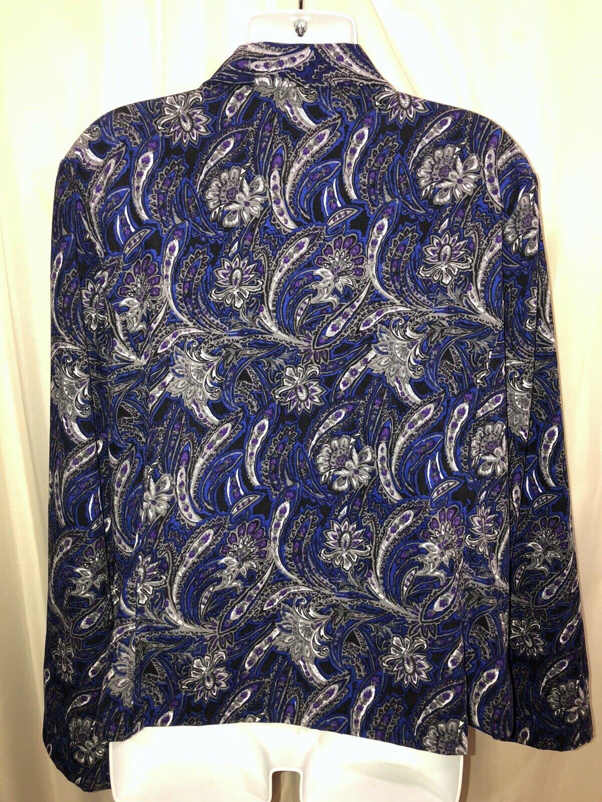 CHRISTOPHER & BANKS Paisley Unlined Jacket Zip Fr… - image 4