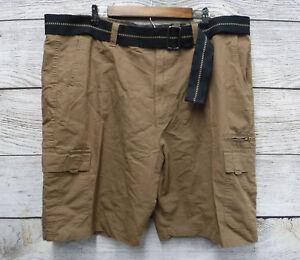 6d497cdd5b Burnside Big & Tall Mens Size 44 Brown & Black Belted Ripstop Cargo ...