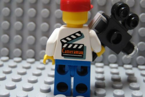 LEGO Classic Movie Town City News TV Cameraman with Camera Blue Legs Red Cap