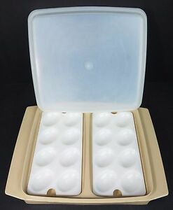 Image Is Loading Tupperware Cold Cut Keeper Deviled Egg Insert Trays