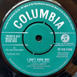 Linda-Scott-amp-Hutch-Davie-Orchestra-I-Don-039-t-Know-Why-7-Inch-Columbia-1961-UK