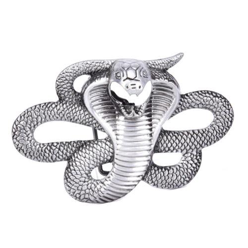 Mens Snake Cobra Animal Metal Alloy Cowboy Cowgirl Fashion Rock Belt Buckle/_Jj$