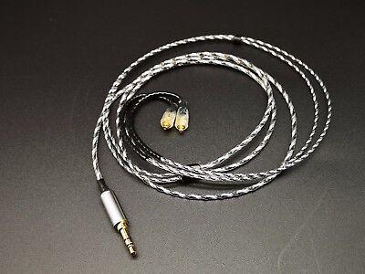 1.2m OCC Silver Plated Shure SE315 SE425 SE535 SE846 UE900 W40 Cable High End